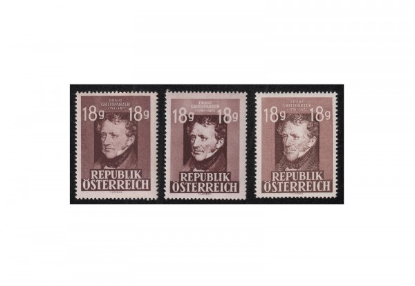 Österreich Grillparzer 1947 Michel Nr. 802 / A 802 I+II postfrisch