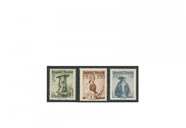 Briefmarken Österreich Trachten 1952 Michel-Nr. 978-980 postfrisch