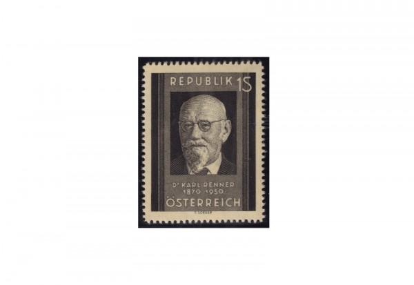 Österreich Einzelausgabe 1951 Tod von Karl Renner Michel Nr. 959 postfrisch