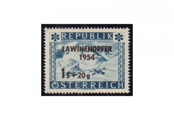 Briefmarke Österreich Einzelausgabe Lawinenunglück1954 Michel-Nr. 998 postfrisch