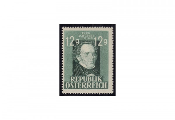 Österreich 1947: 150. Geburtstag von Franz Schubert Michel Nr. 801 postfrisch