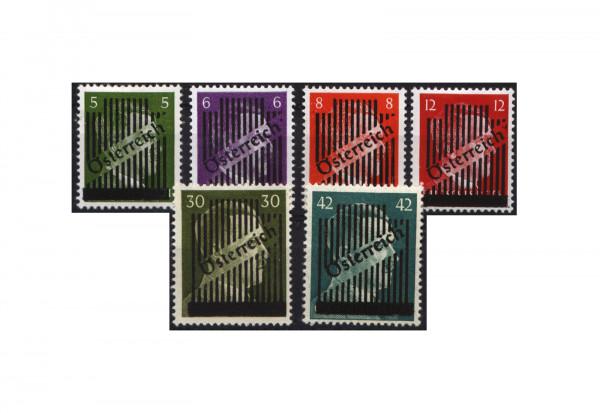 Briefmarken Österreich 1945 Michel Nr. 668/73 I+II 3. Wiener Aushilfsausgabe postfrisch