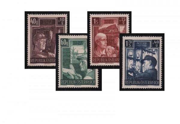 Briefmarken Österreich 1951 Michel Nr. 960/63 Wiederaufbau postfrisch OR
