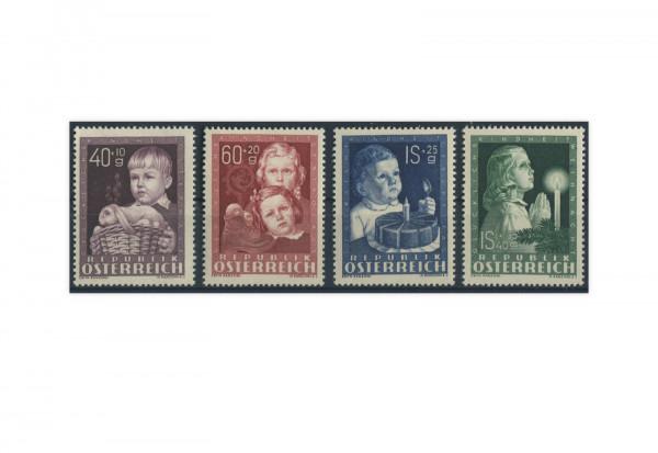 Briefmarken Österreich 1949 Michel Nr. 929/32 Kinderfürsorge postfrisch ER