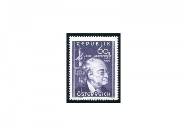 Briefmarke Österreich 100. Todestag Josef Madersperger 1950 Michel-Nr. A VII postfrisch Fotoattest