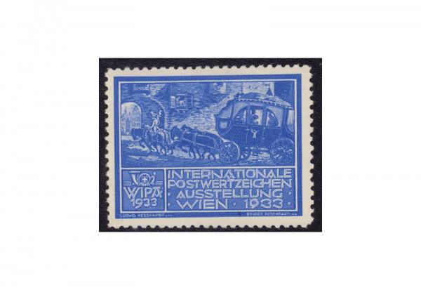 Österreich Reklamemarke WIPA 1933