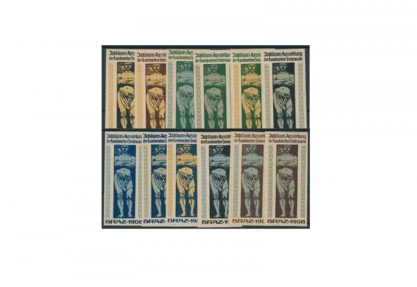 Briefmarken Österreich Jubiläums Ausstellung Grazer Reklamemarke 1908