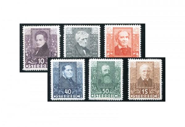 Briefmarken Österreich Dichter 1931 Michel-Nr. 524/529 Falz