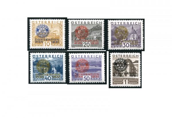 Österreich 518/523 Falz Marken mit Aufdruck 6 Werte