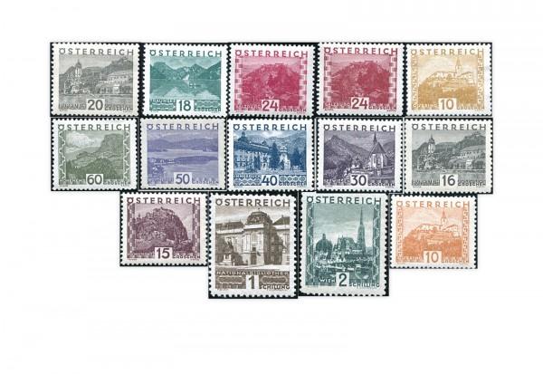 Briefmarken Österreich Freimarken Landschaften Michel-Nr. 498/511 Falz