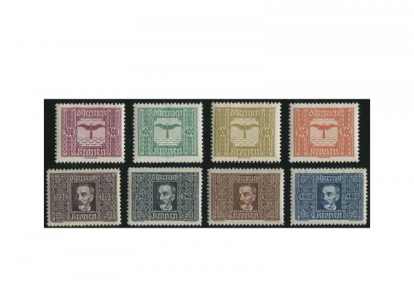 Österreich 425-432 Falz Flugpostmarken 1922