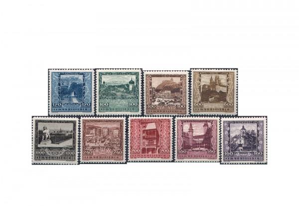 Briefmarken 1. Republik Österreich Landeshauptstädte 1923 Michel-Nr. 433/441 Falz