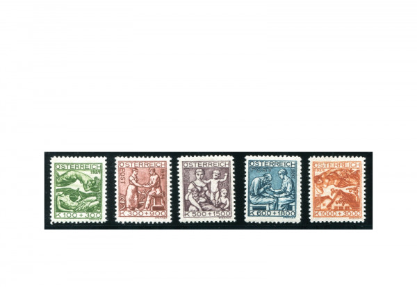 Österreich 1924 Mi.Nr. 442/446 Falz Jugend und Tuberkulosefürsorge