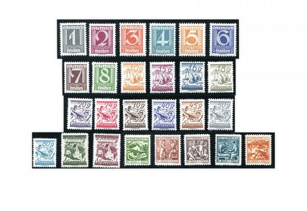 Österreich Mi.Nr. 447/467 Falz Freimarken 1925