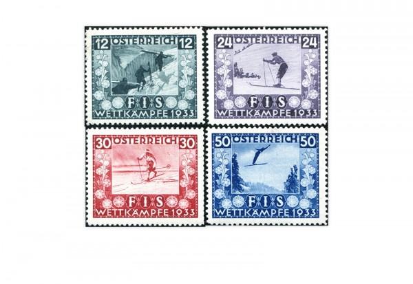 Österreich 1.Republik Jugendwohlfahrt Michel Nr. 551-554 Falz