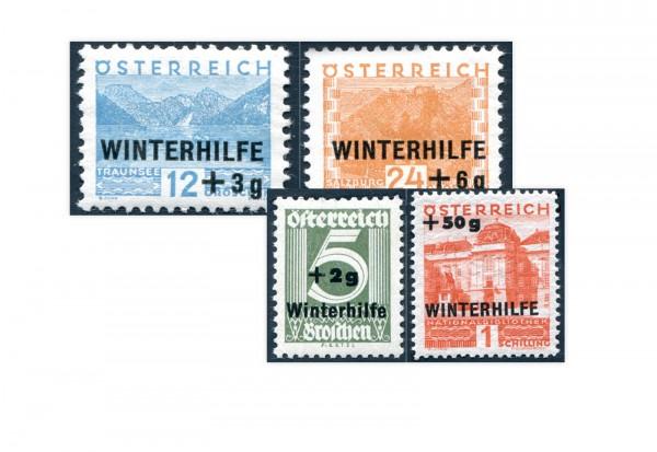1. Republik Österreich Winterhilfe I 1933 Mi.Nr. 563-566 Falz