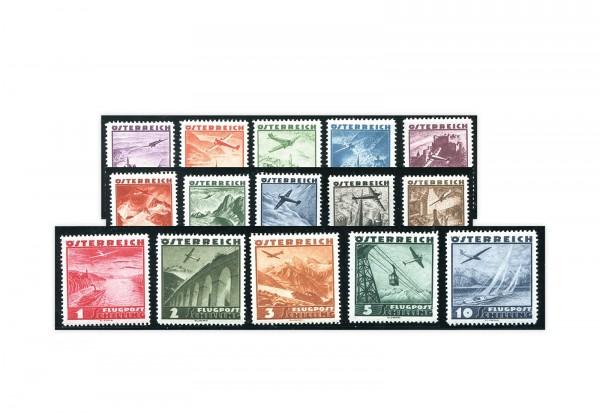 1. Republik Österreich Flugpost 1935 Mi.Nr. 598/612 Falz