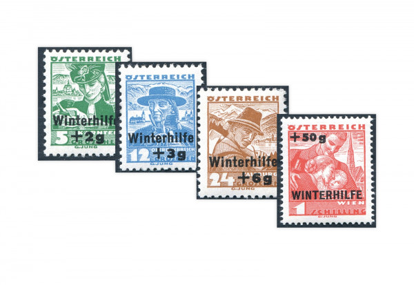 1. Republik Österreich Winterhilfe II Mi.Nr. 613-616 Falz