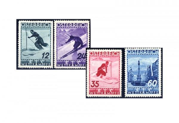1. Republik Österreich FIS Wettkämpfe 1936 Mi.Nr. 623-626 Falz