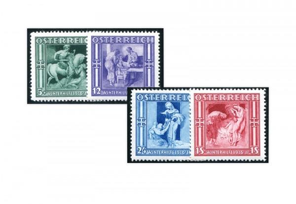 1.Republik Österreich Mi.Nr. 628/631 Falz