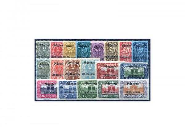 Briefmarken Österreich Volksabstimmung 1920 Michel-Nr. 321-339 Falz