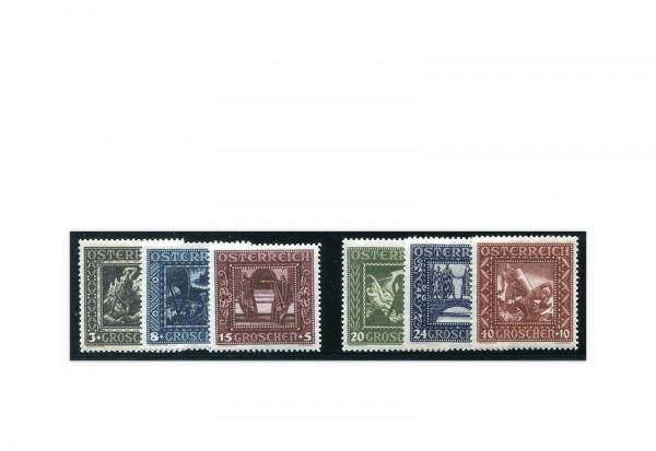 Österreich Mi.Nr. 488/493 Falz Nibelungensage 1926