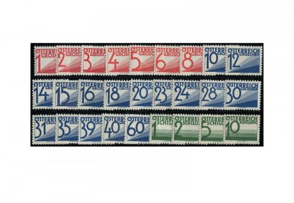 Briefmarken Österreich Portomarken Ausgabe 1935 Michel-Nr. 132/58 mit Falz