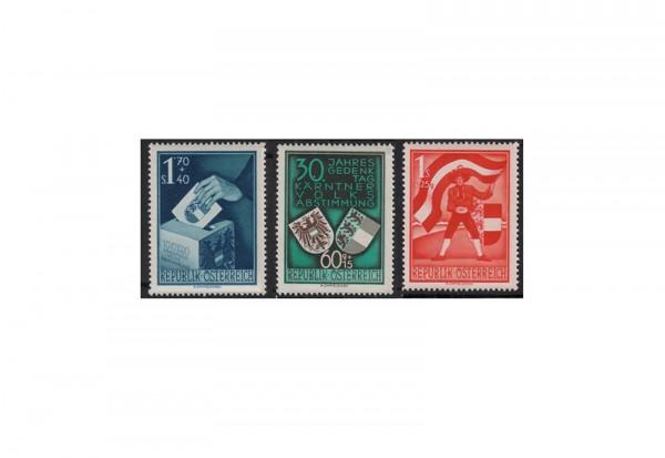 2. Republik Österreich Volksabstimmung Kärnten 1950 Mi.Nr. 952/954 Falz