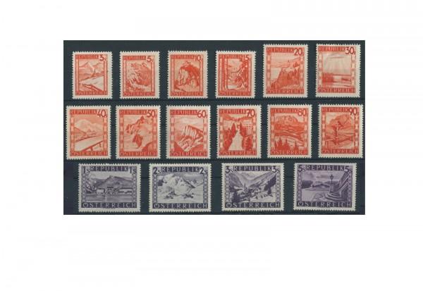 Österreich Mi.Nr. 838/853 Falz Landschaften 1947