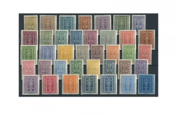 Österreich Mi.Nr. 360/397 gestempelt 38 Briefmarken