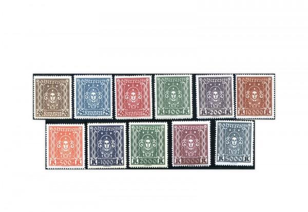 Österreich Mi.Nr. 398/408 B Falz Frauenkopf 1922/1924