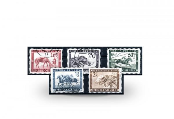 Österreich Pferderennen Mi.Nr. 785/789 gestempelt