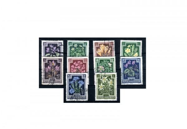 Österreich Blumen Mi.Nr. 868/877 gestempelt
