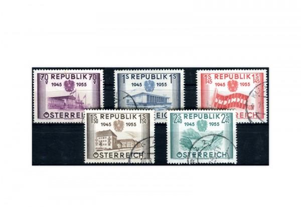 2. Republik Österreich Mi.Nr. 1012/16 gest.