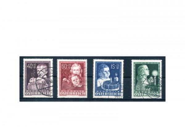 Österreich Kinderfürsorge 1949 Michel Nr. 929/32 gest.