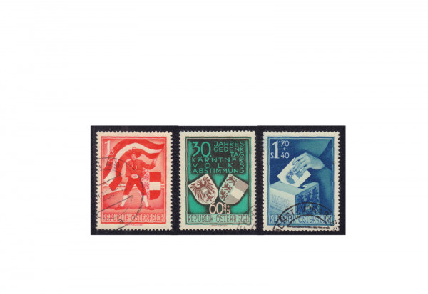 Briefmarken Österreich 952/54 Volksabstimmung gestempelt