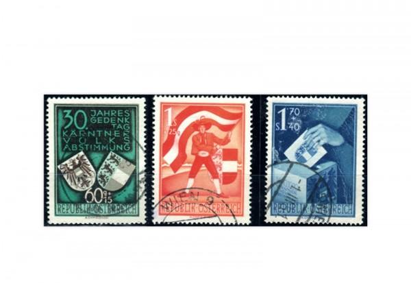Österreich 952/54 gest. 3 Briefmarken Volksabstimmung