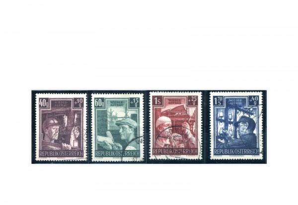 Österreich Wiederaufbau 1951 Michel Nr. 960/63 gestempelt