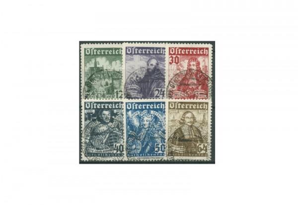 Briefmarken Österreich Katholikentag 1933 Michel-Nr. 557-562 gestempelt