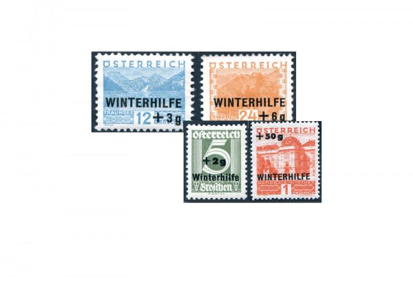 1. Republik Österreich Winterhilfe 1933 Mi.Nr. 563/566 gestempelt