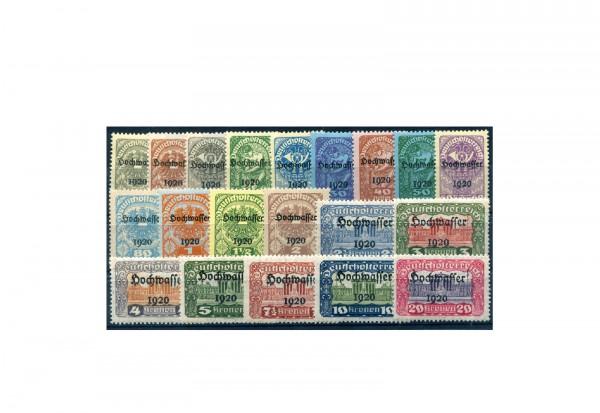 Briefmarken Österreich Hochwasserhilfe Michel-Nr. 340/359 gestempelt