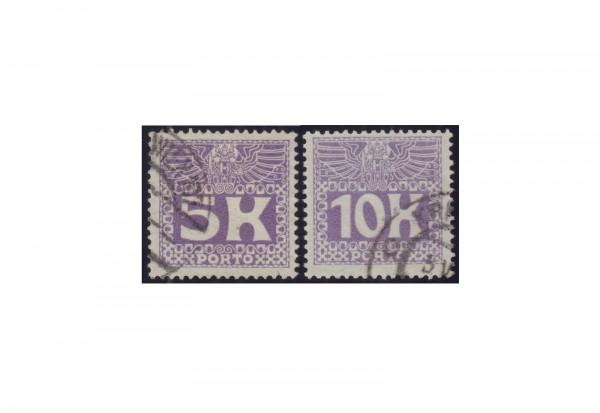 Österreich Portomarken Ausgabe 1911 Michel Nr. P 45/46 gestempelt