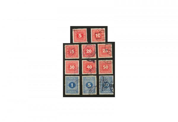 Briefmarken Österreich Portomarken Ausgabe 1916 Michel-Nr. 47/57 gestempelt