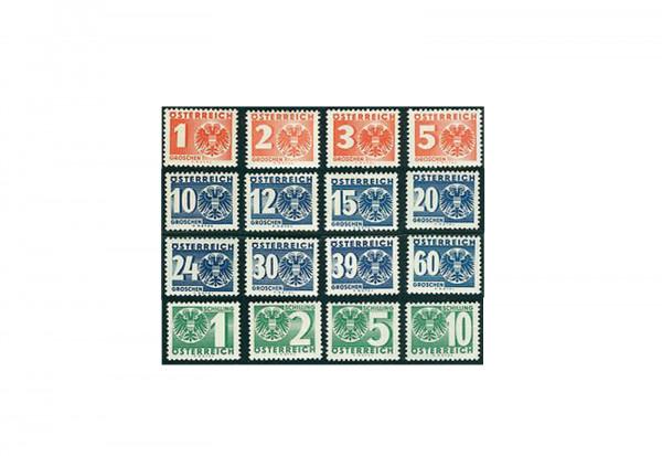 Österreich Portomarken Ausgabe 1935 Michel Nr. P 159/74 gestempelt