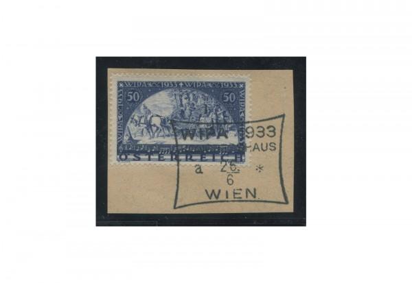 Briefmarke Österreich 1933 WIPA Michel Nr. 555 A gestempelt mit Sonderstempel