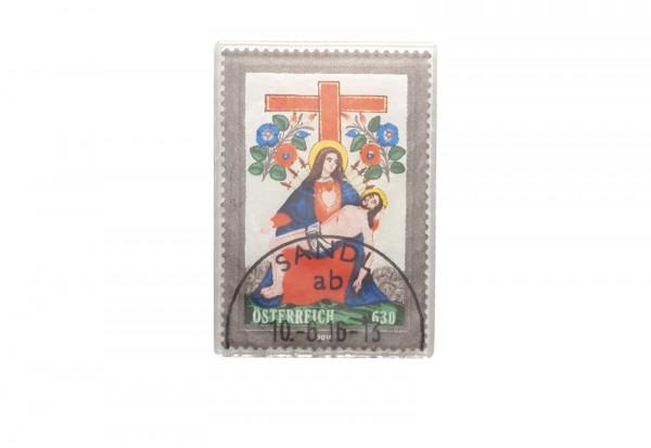Österreich BM aus Glas gestempelt Pieta mit Kreuz