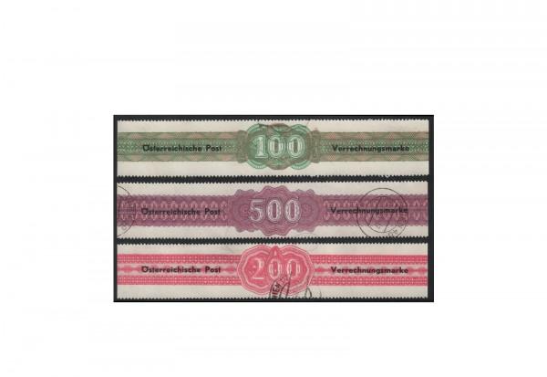Österreich Verrechnungsmarken Michel-Nr. 1/3 gestempelt