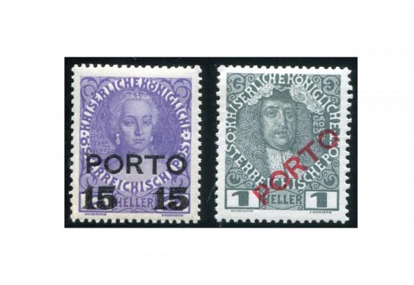 Österreich Portomarken Ausgabe 1916 II Michel Nr. P 58/59 gestempelt