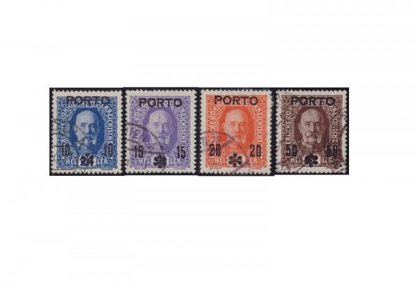 Österreich Kaiser Franz Joseph 1917 Portomarken Michel Nr. 60 bis 63 gestempelt
