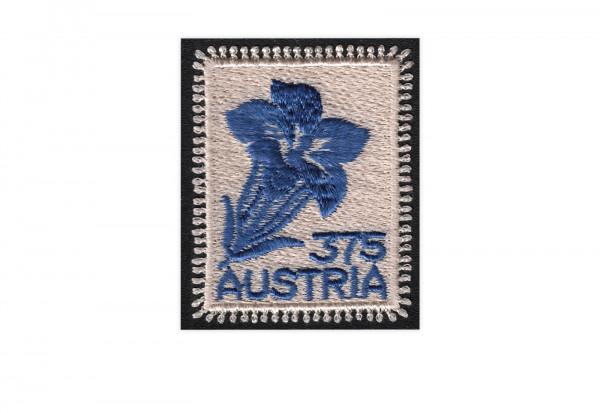Österreich Stickereimarke Enzianmotiv Mi.Nr. 2773 gest.